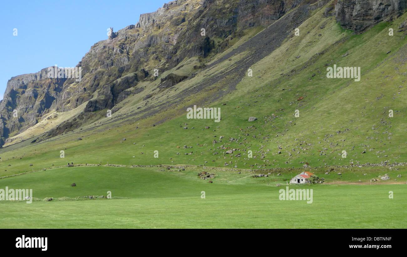 Paysages de l'Islande sur la Route 1 entre Reykjavik et Vik. Photo Stock