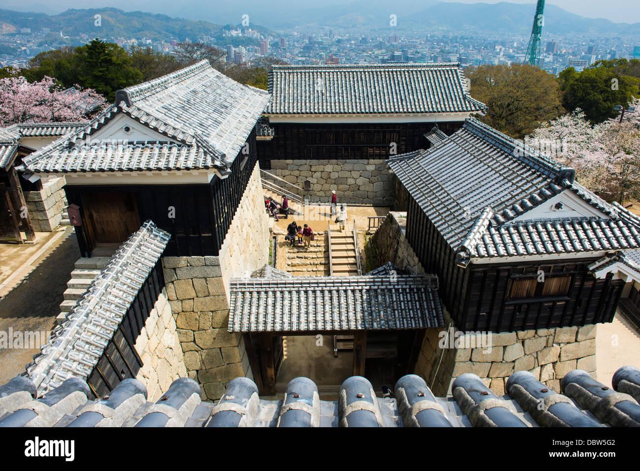 Matsuyama Castle, Shikoku, Japon, Asie Photo Stock