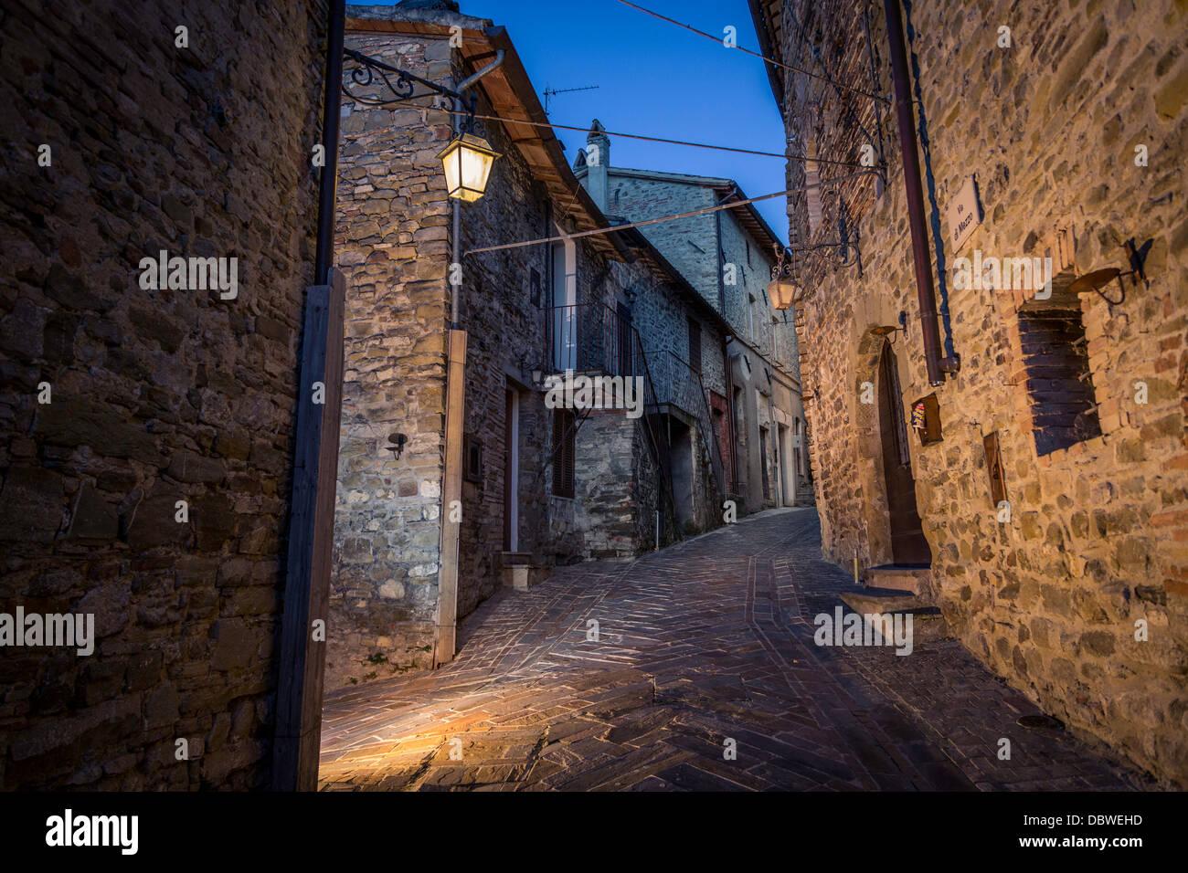 Les rues étroites de l'Europe Photo Stock