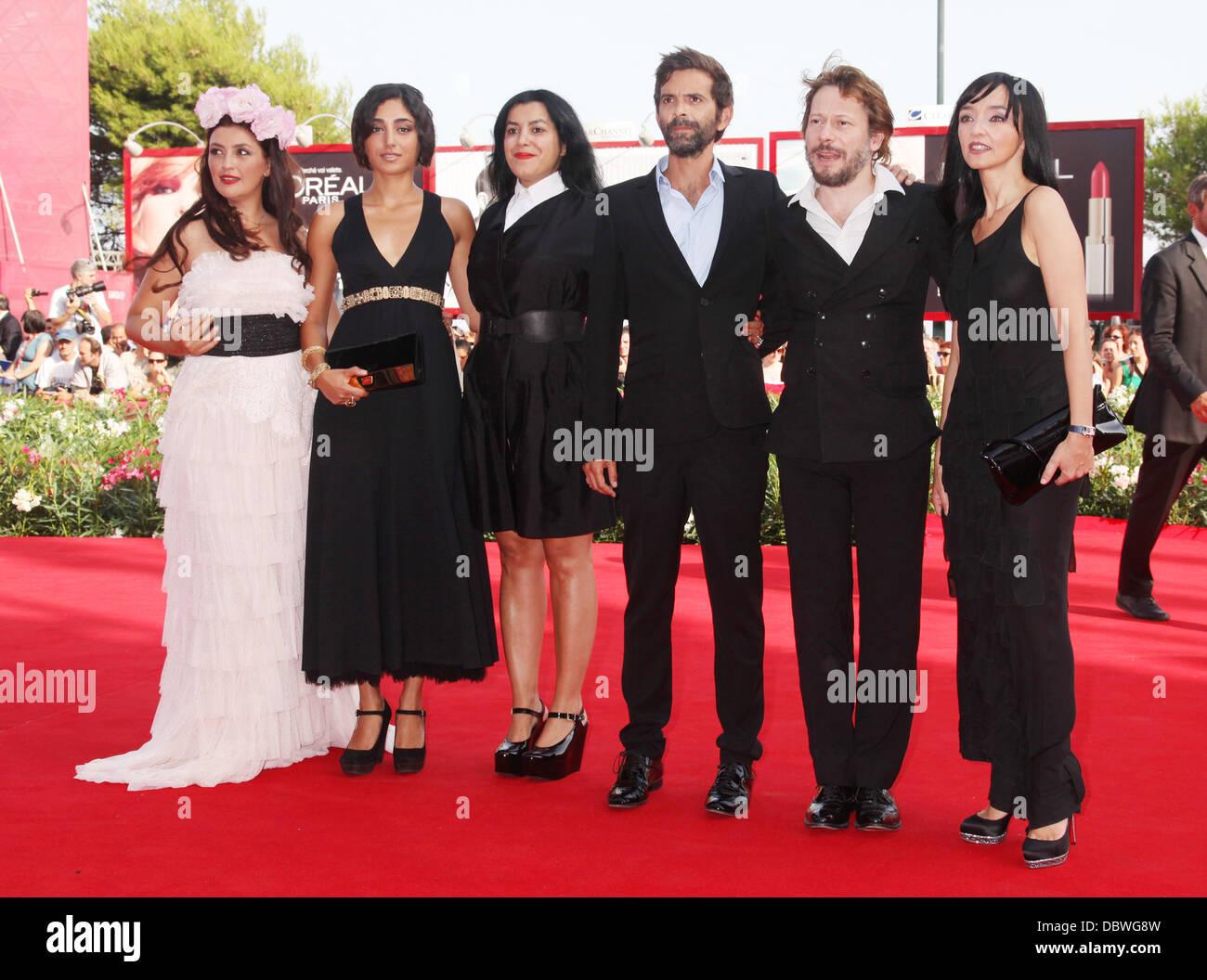 Rona Hartner, Golshifteh Farahani, Marjane Satra, Invité, Mathieu Amalric, Maria de Medeiros Le 68e Festival du Banque D'Images