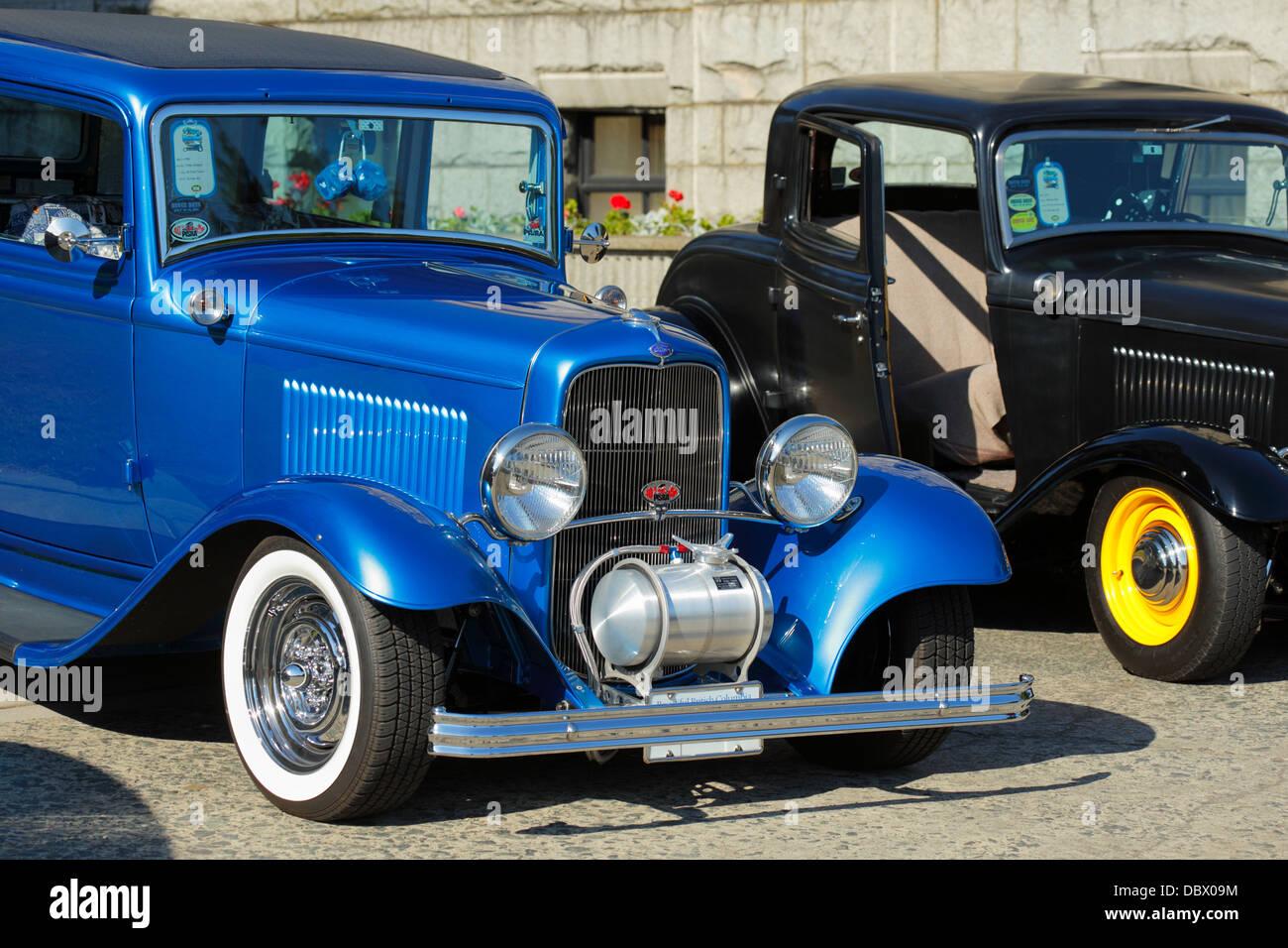 1932 Ford classic automobiles dans le nord-ouest de deux jours car show-Victoria, Colombie-Britannique, Canada. Photo Stock