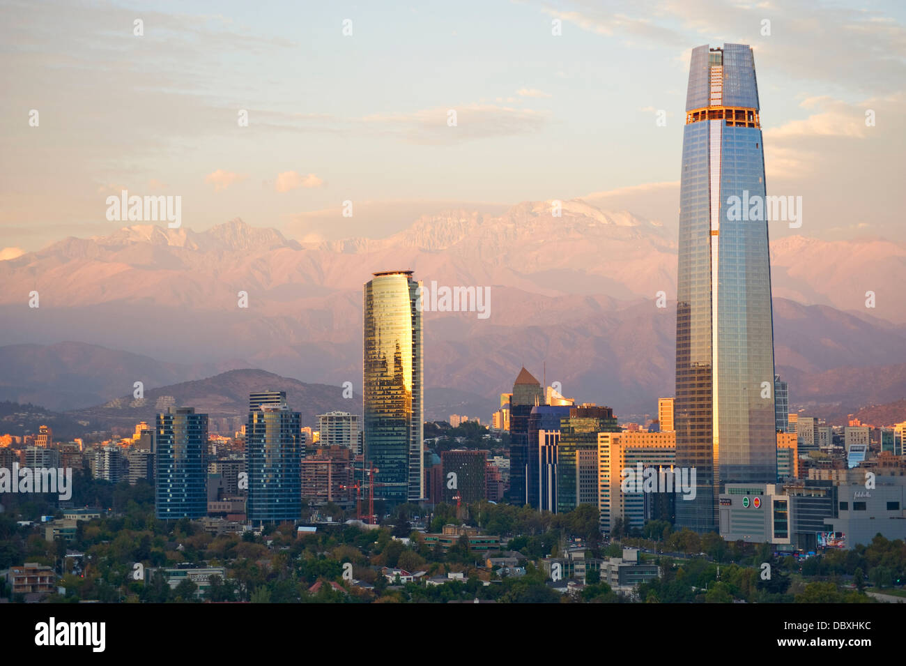 Santiago, Chili skyline Photo Stock