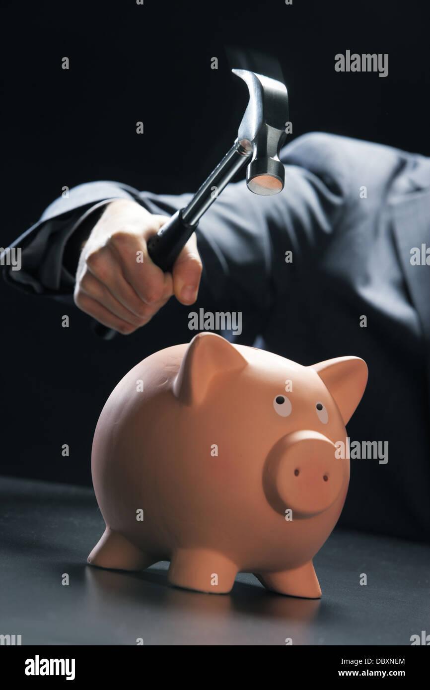 Obtenir à votre épargne Photo Stock