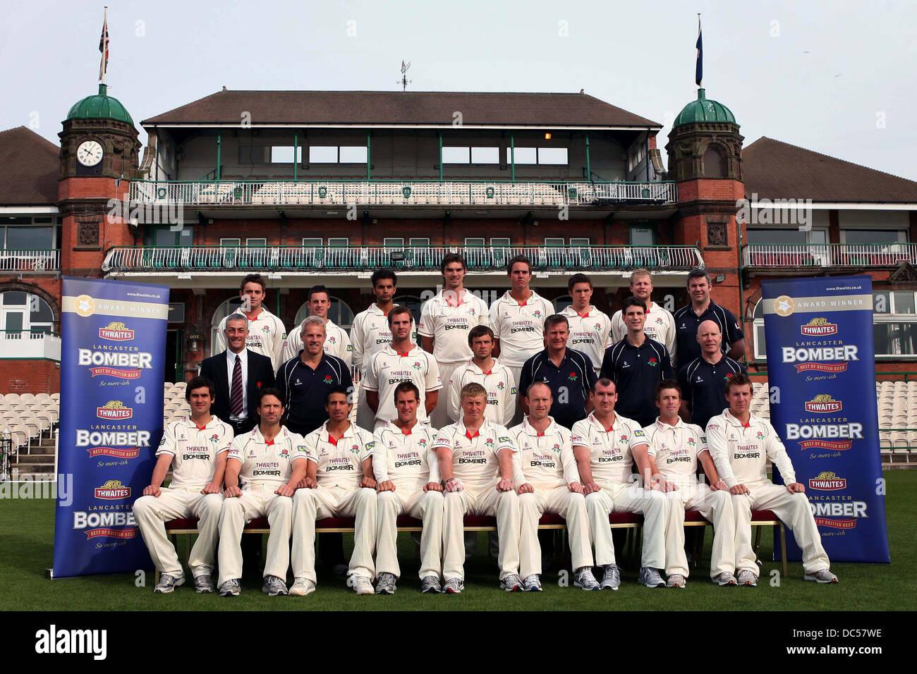 Le Lancashire County Cricket Club photocall le 6 avril 2009. Photo Stock