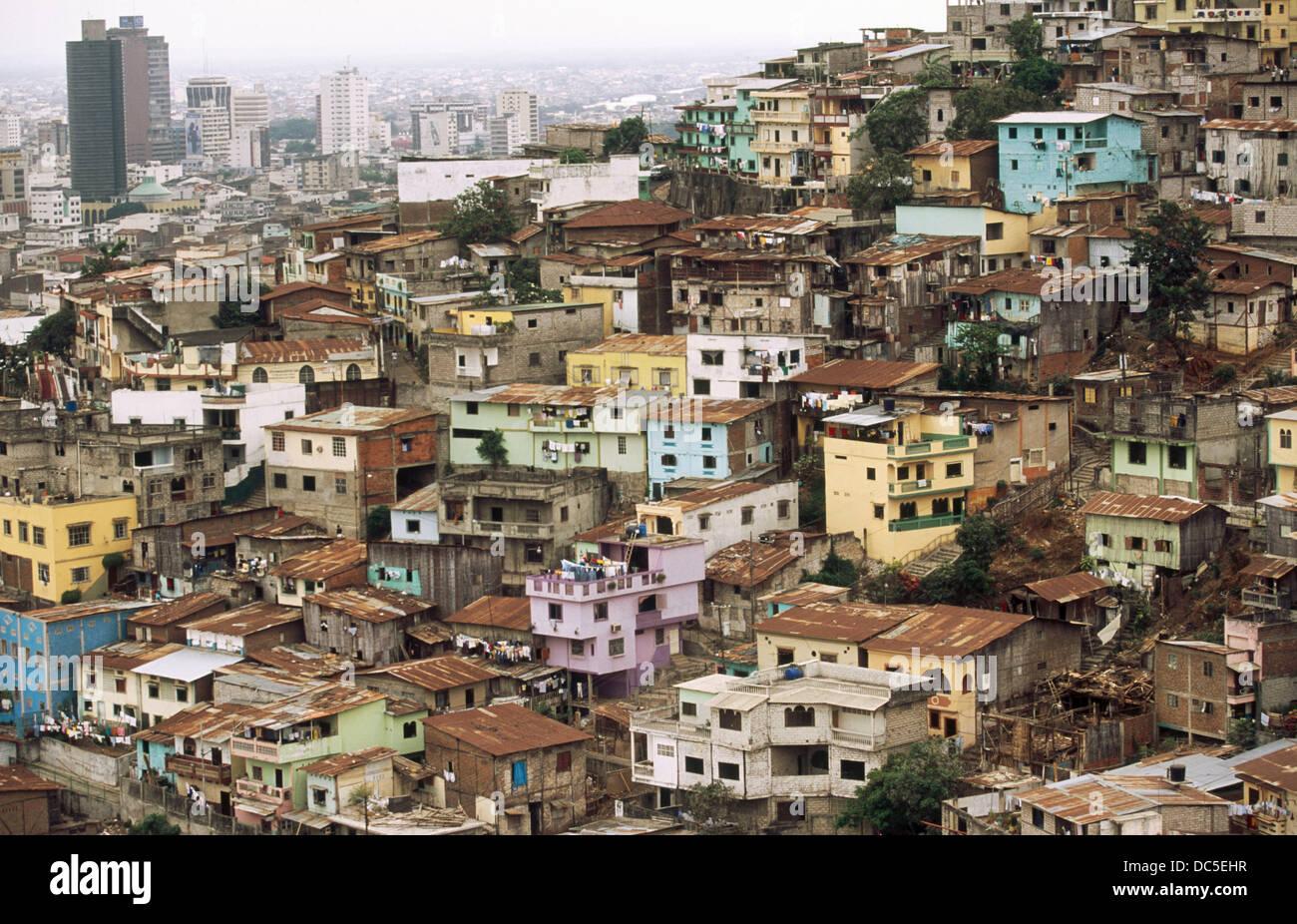 Quartier pauvre. Cerro del Carmen. Guayaquil. La province de Guayas. L'Équateur Photo Stock