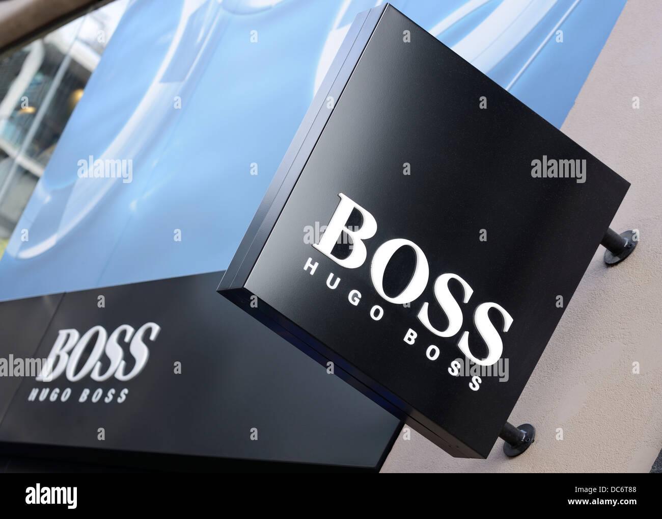 Hugo Boss La Boutique Sign, Oxford Street, Londres, Royaume-Uni. Photo 936ee6d3a242