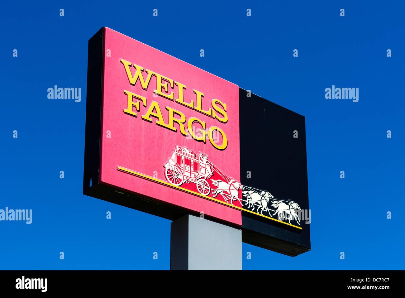 Wells Fargo Bank, Cheyenne, Wyoming, USA Photo Stock