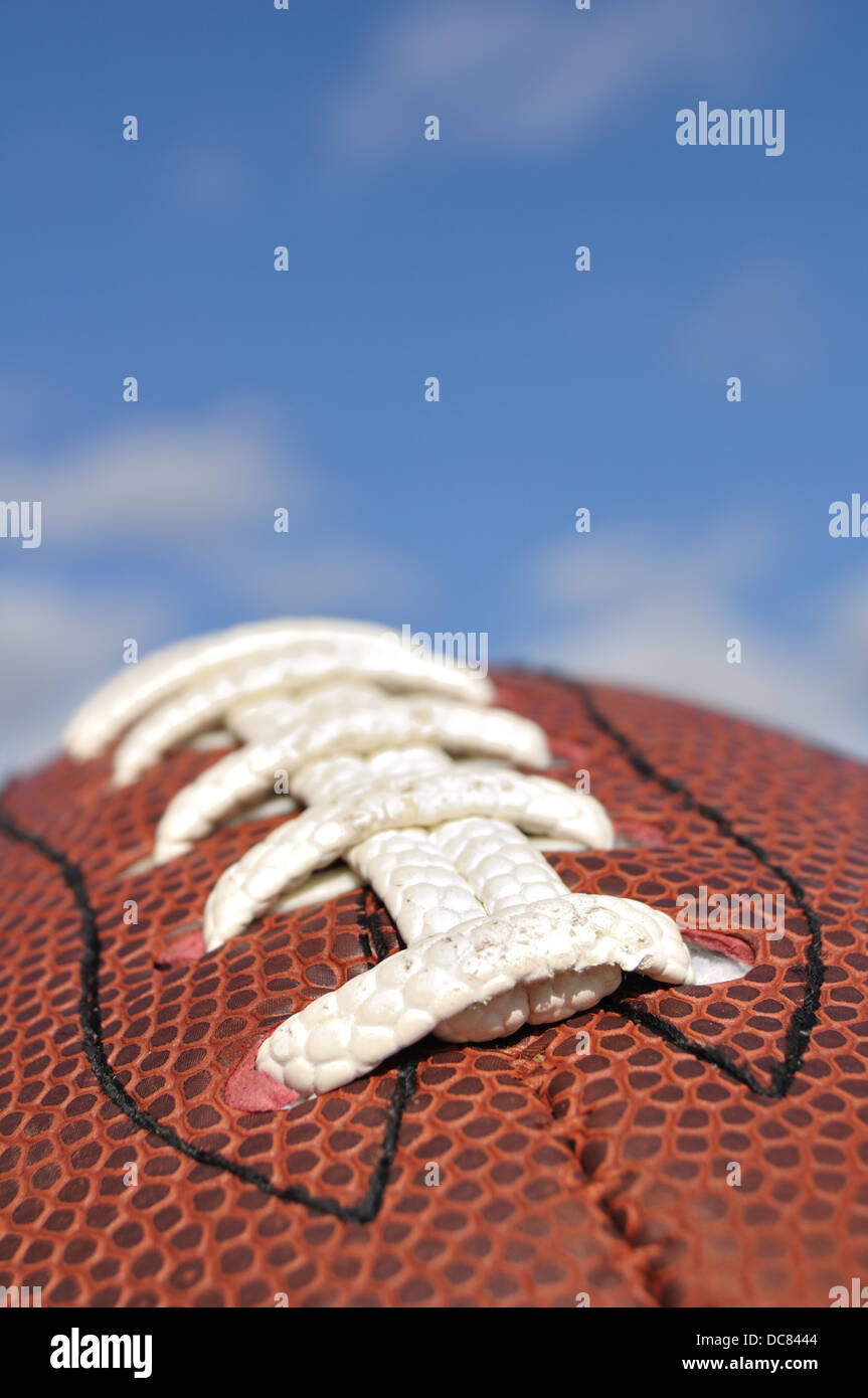 Close up d'un football américain, USA Photo Stock