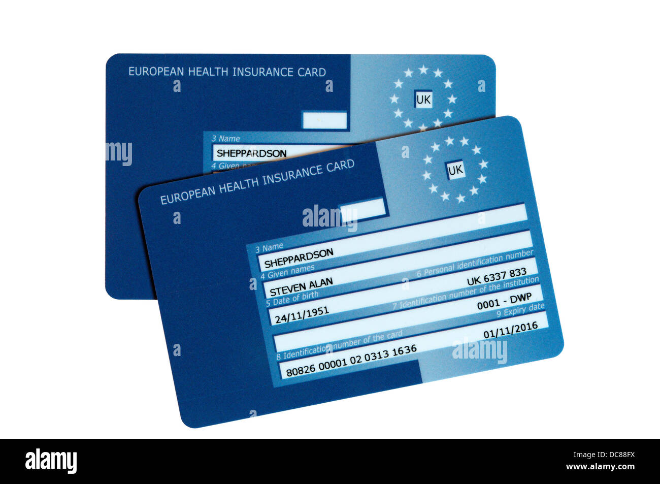 Carte Europeenne D Assurance Maladie Photo Stock Alamy