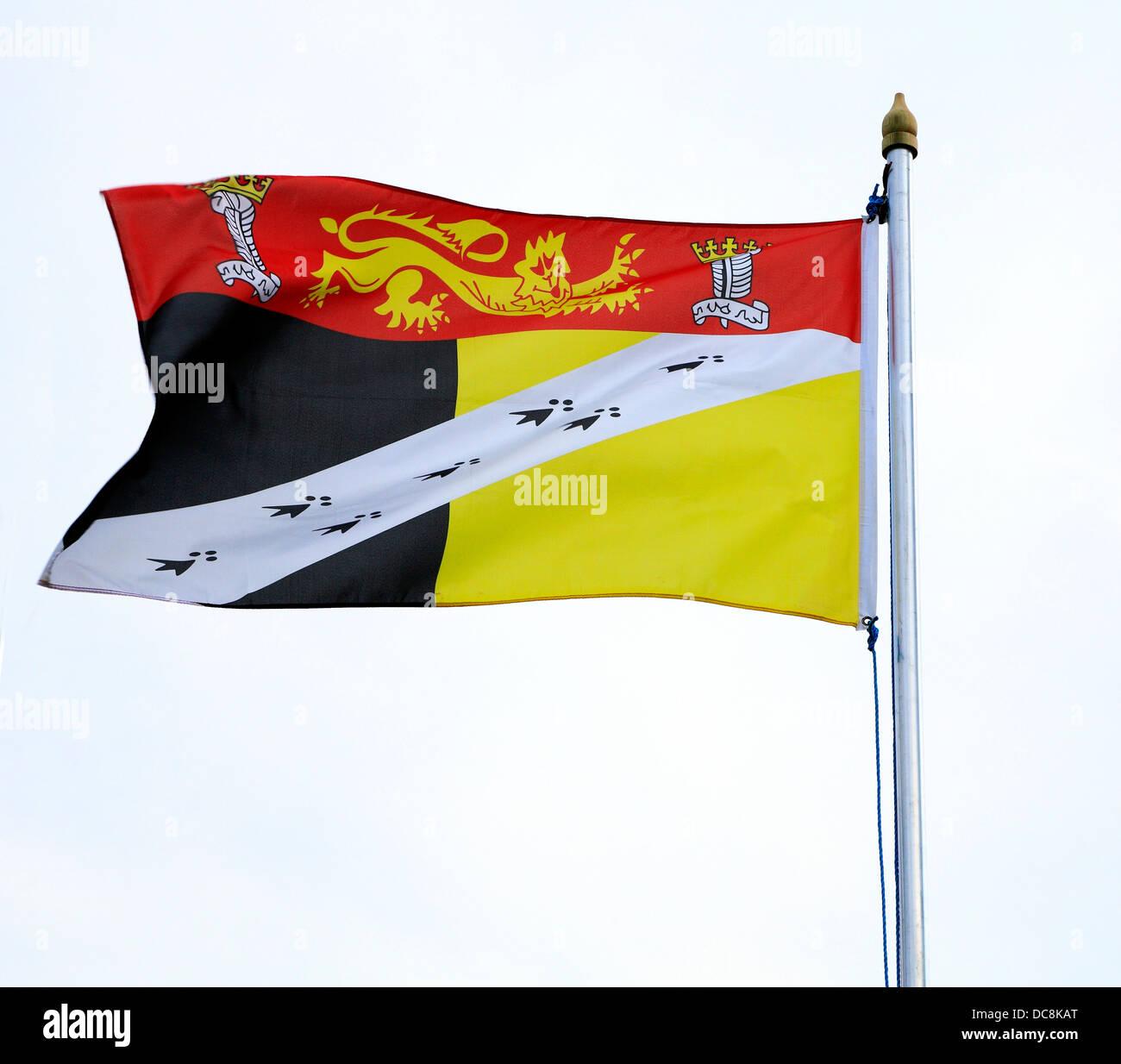 Le Comté de Norfolk en Angleterre drapeau anglais UK drapeaux régionaux Photo Stock