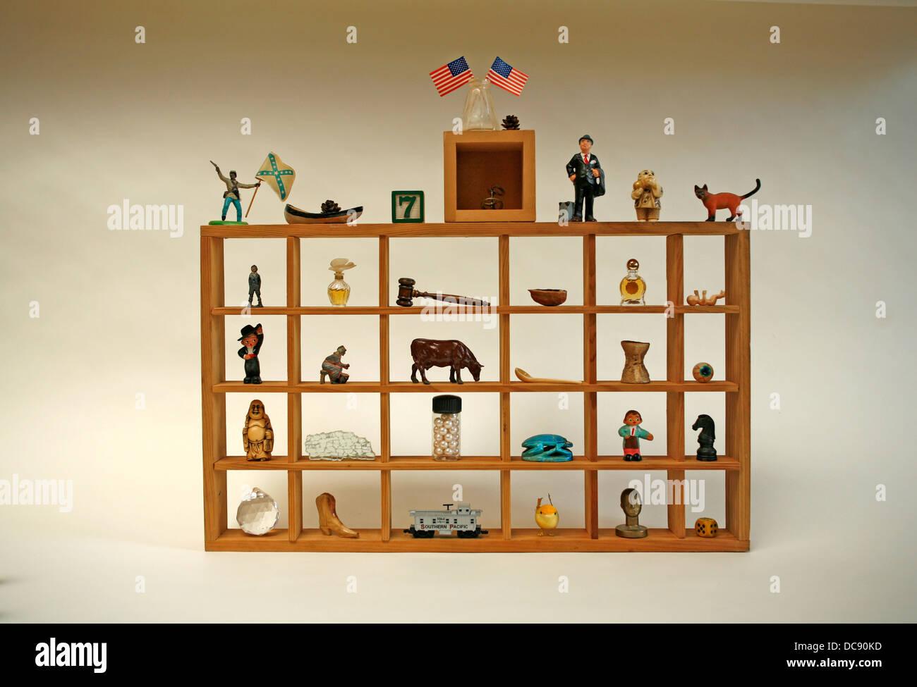 Collection d'objets de curiosité Photo Stock