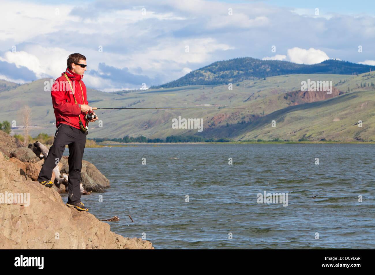 Lac de Kamloops Photo Stock