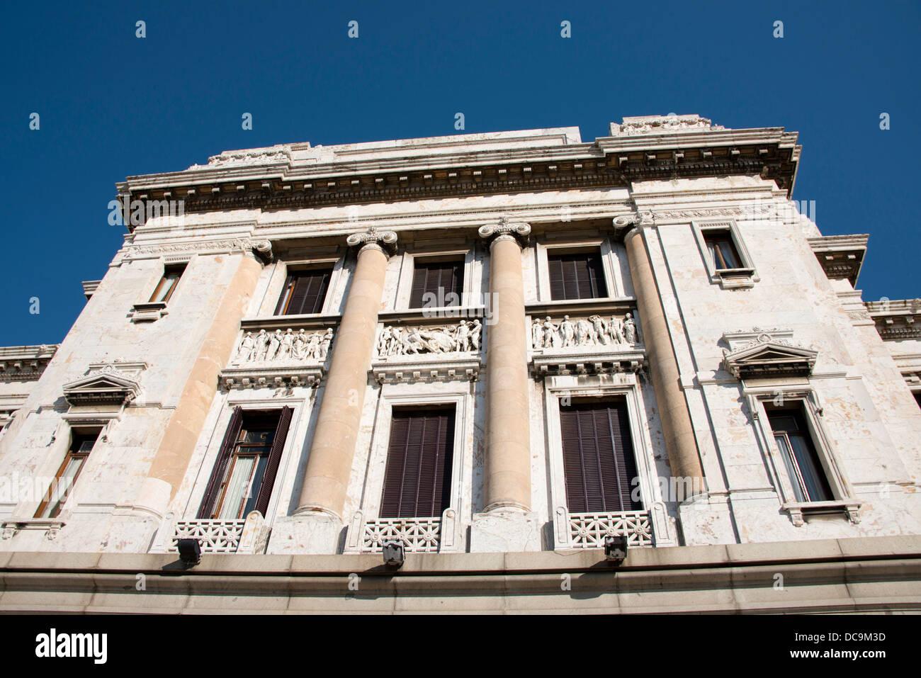 L'Uruguay, Montevideo. Palais législatif historique, siège de l'extérieur du Parlement uruguayen. Circa 1908-1925. Banque D'Images