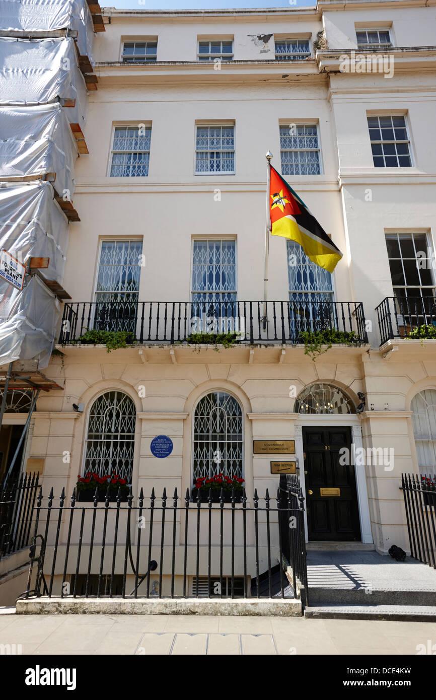 Haut-commissariat du Mozambique London England UK Photo Stock