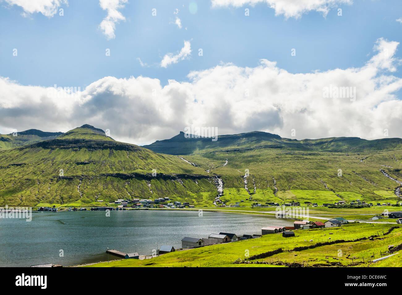 Paysage dans les Îles Féroé Photo Stock