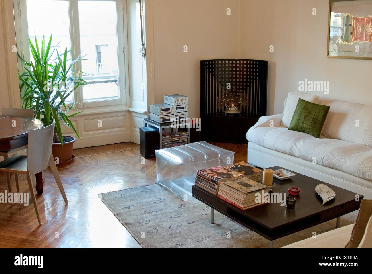 Appartement living room Photo Stock