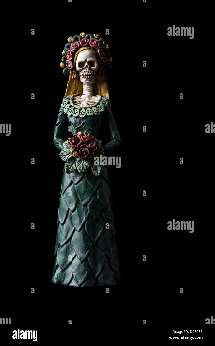 """Catrina Calavera connu sous le nom de """"Crâne élégant' Dia de los Muertos (Jour des Morts) célébration Banque D'Images"""
