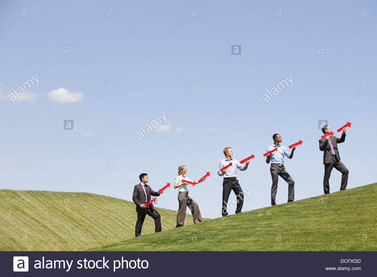 Groupe d'affaires impliquant la réussite Photo Stock