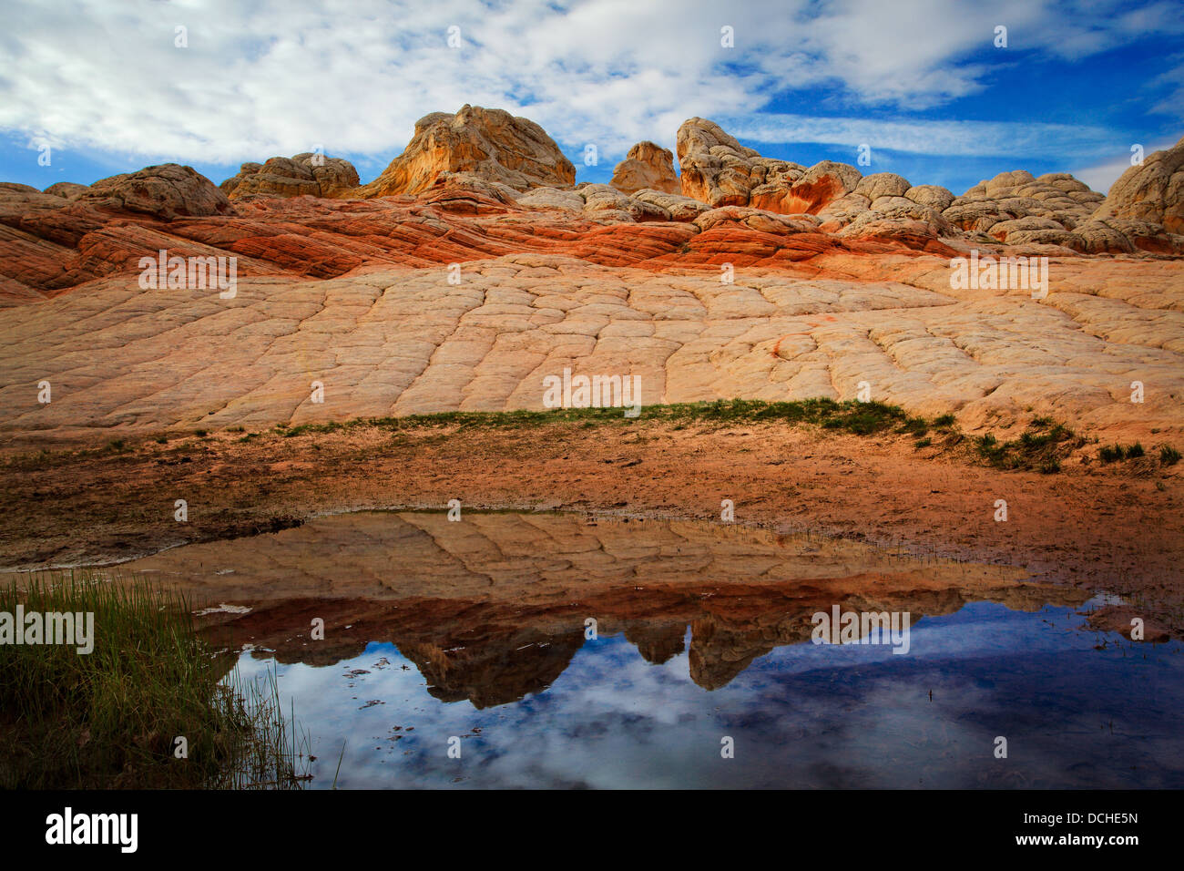 Rock formations dans le Livre blanc de l'unité de poche Vermilion Cliffs National Monument Photo Stock