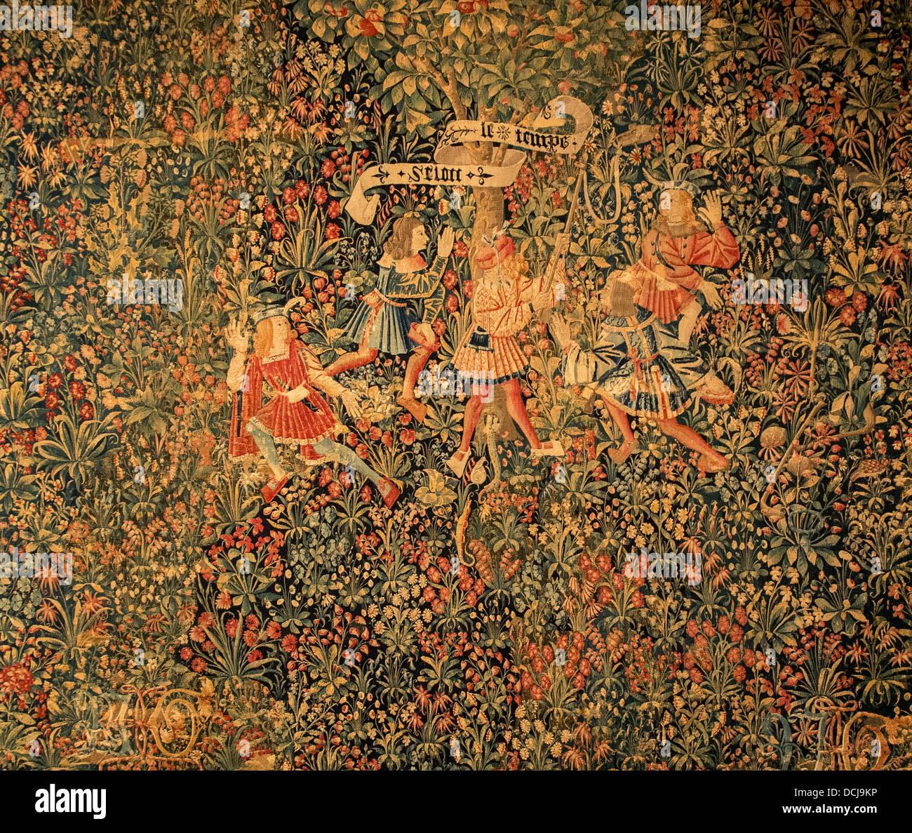 16e siècle - Tapisserie - (Berne / Suisse, XVIème siècle) - Metropolitan Museum of Art - New York Photo Stock
