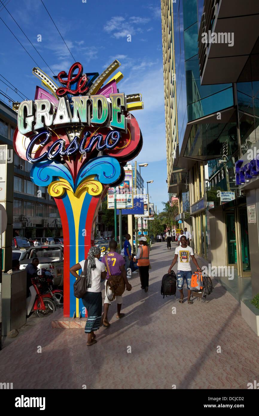 Casino Le Grande, Dar es Salaam, Tanzanie Photo Stock