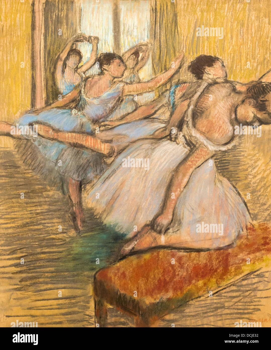 20e siècle - les danseurs, 1900 - Edgar Degas Philippe Sauvan-Magnet / Active Museum Photo Stock