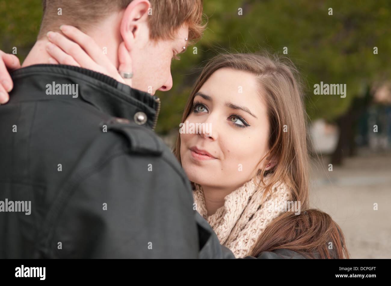 Teen couple in love Photo Stock