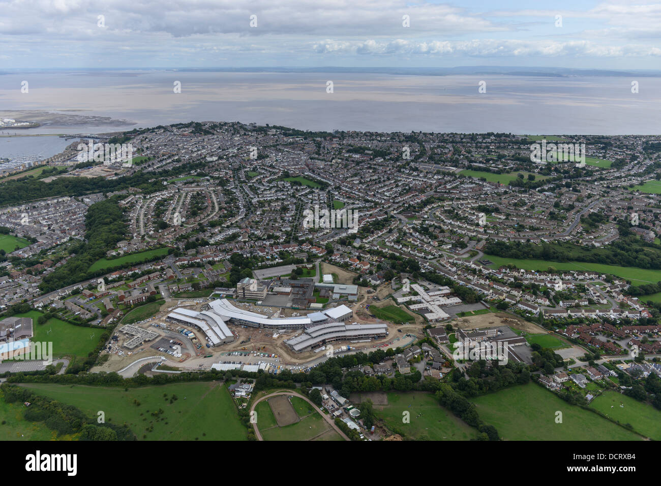 Photo aérienne de Penarth Photo Stock