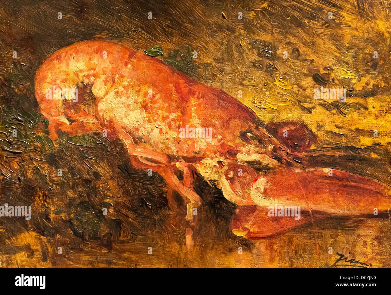 Nature morte au homard - Félix Ziem - Petit Palais / Musée des Beaux-Arts de la Ville de Paris huile sur Photo Stock