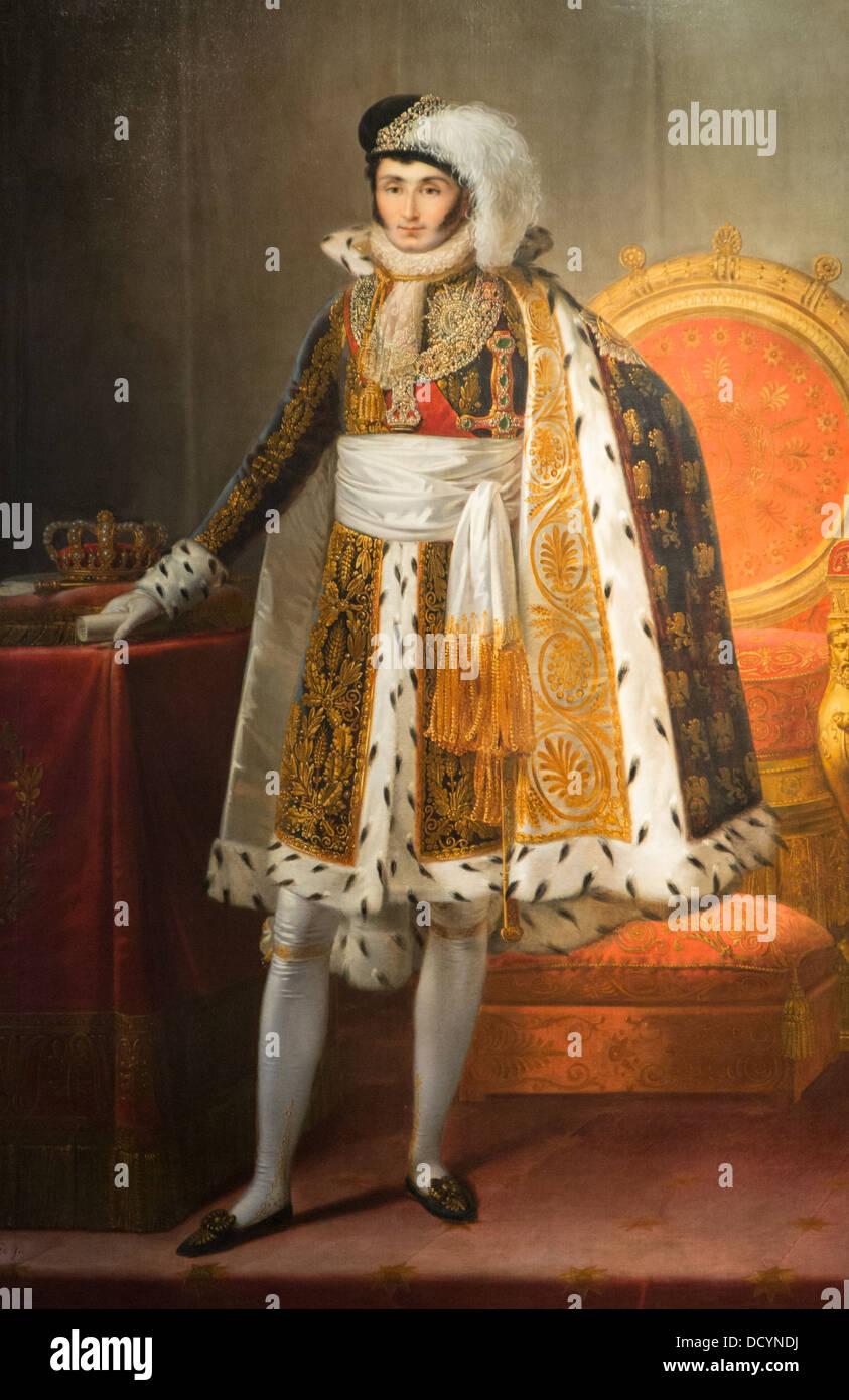19e siècle - Jérôme Bonaparte, roi de Westphalie - François-Joseph Kinson 1809 Musée de l'armée - Paris France Huile Banque D'Images