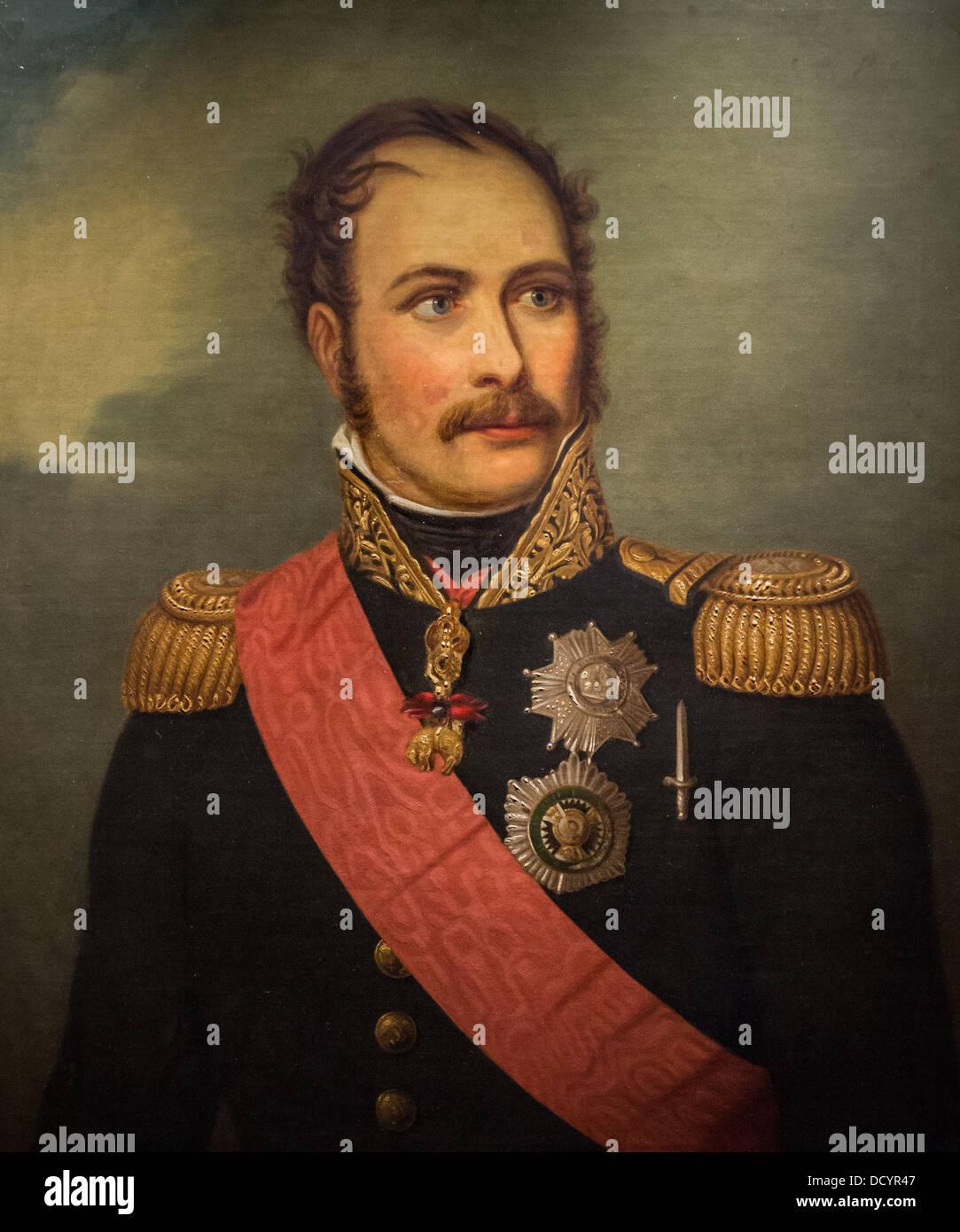 Le prince Eugène de Beauharnais - Anonyme - Musée de l'armée Hôtel National des Invalides Paris France huile sur Banque D'Images