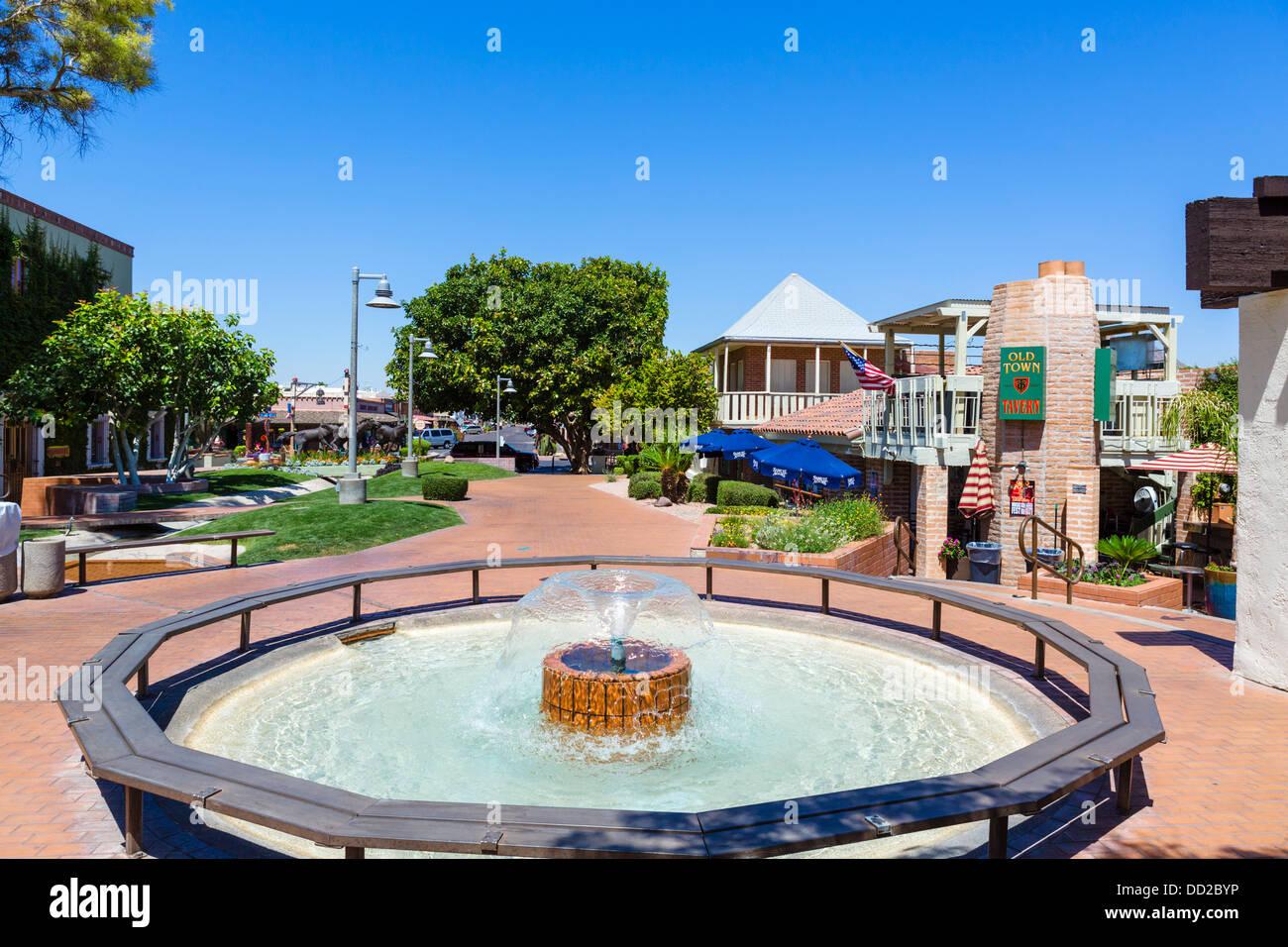 Taverne de la vieille ville de Scottsdale Mall sur l'Est, la vieille ville de Scottsdale, Arizona, USA Banque D'Images