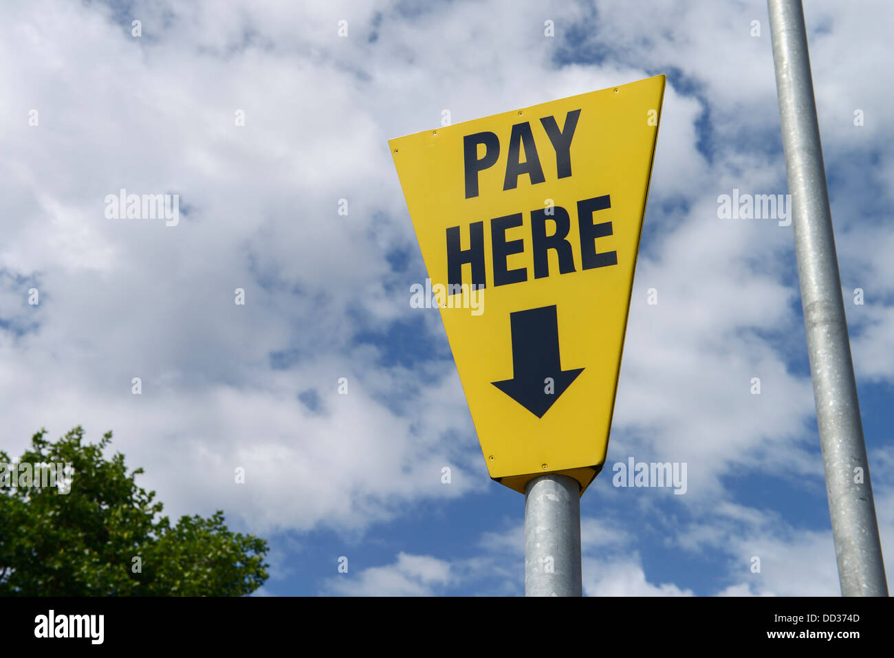 Payez ici parking sign Photo Stock