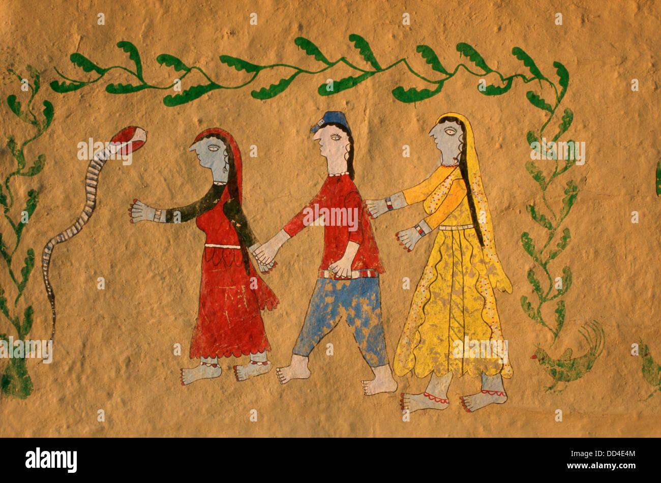 La Peinture Murale Traditionnelle Sur Le Mur Extérieur D Une
