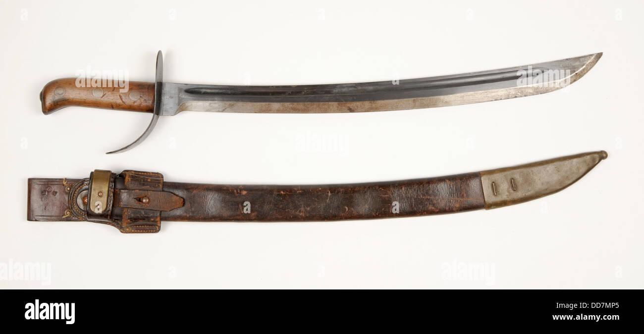 Dutch Klewang Marechausse épée courte modèle M1898. Cet exemple a été modifiée par Photo Stock