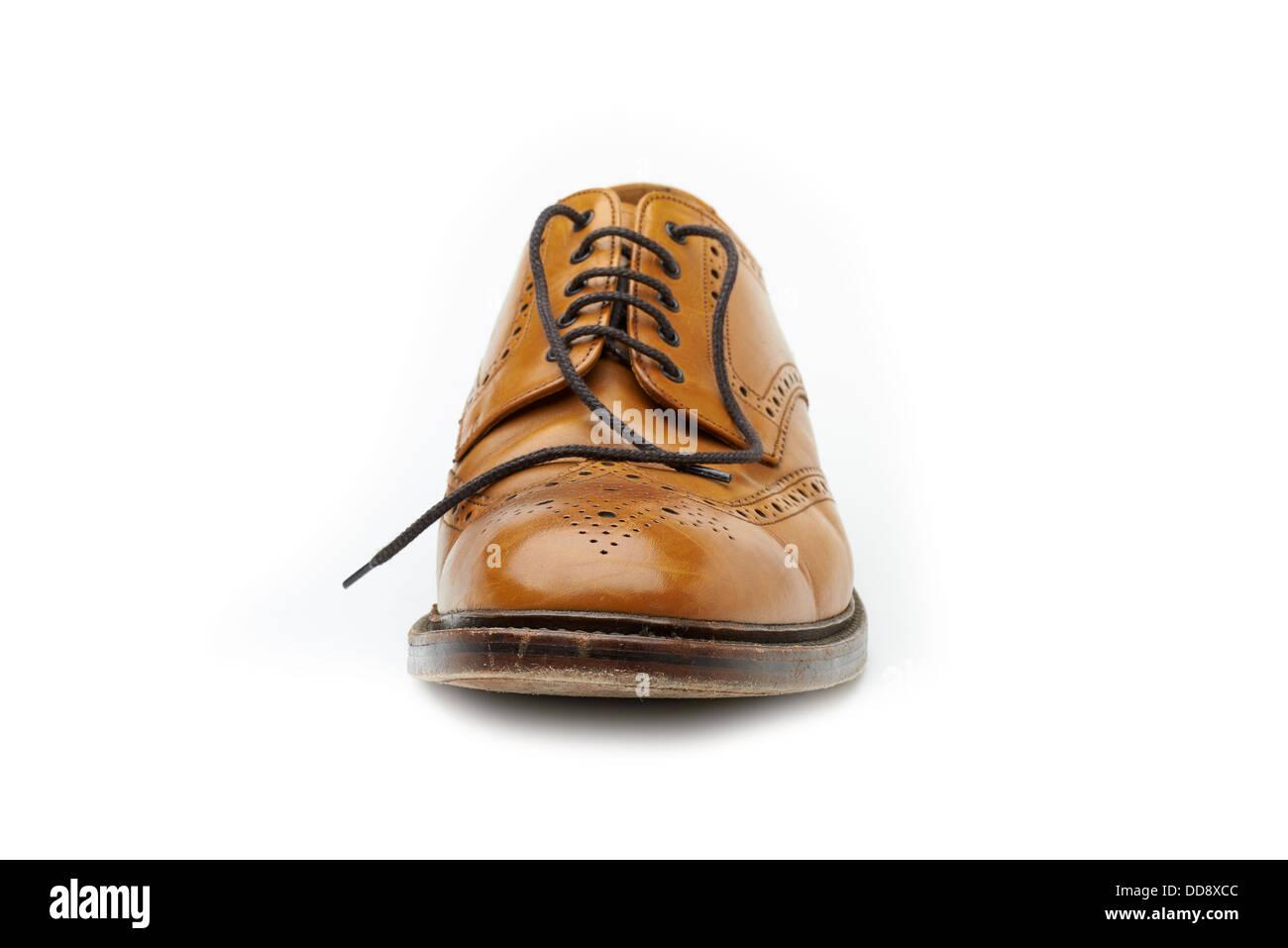 Cuir Classique Brogues Anglais En Tan Loake Chaussures knwOP0