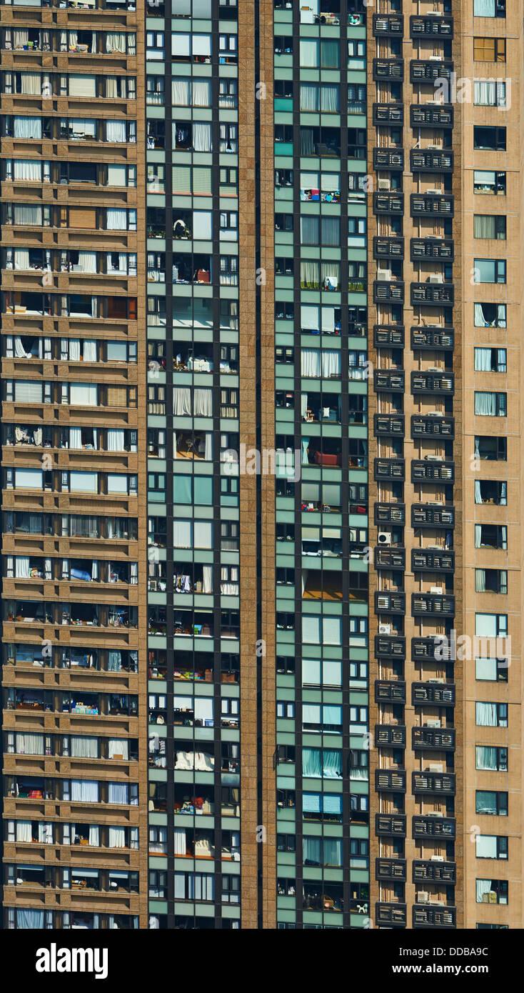 Chine, Hong Kong, l'architecture de Hong Kong depuis Victoria Peak Photo Stock
