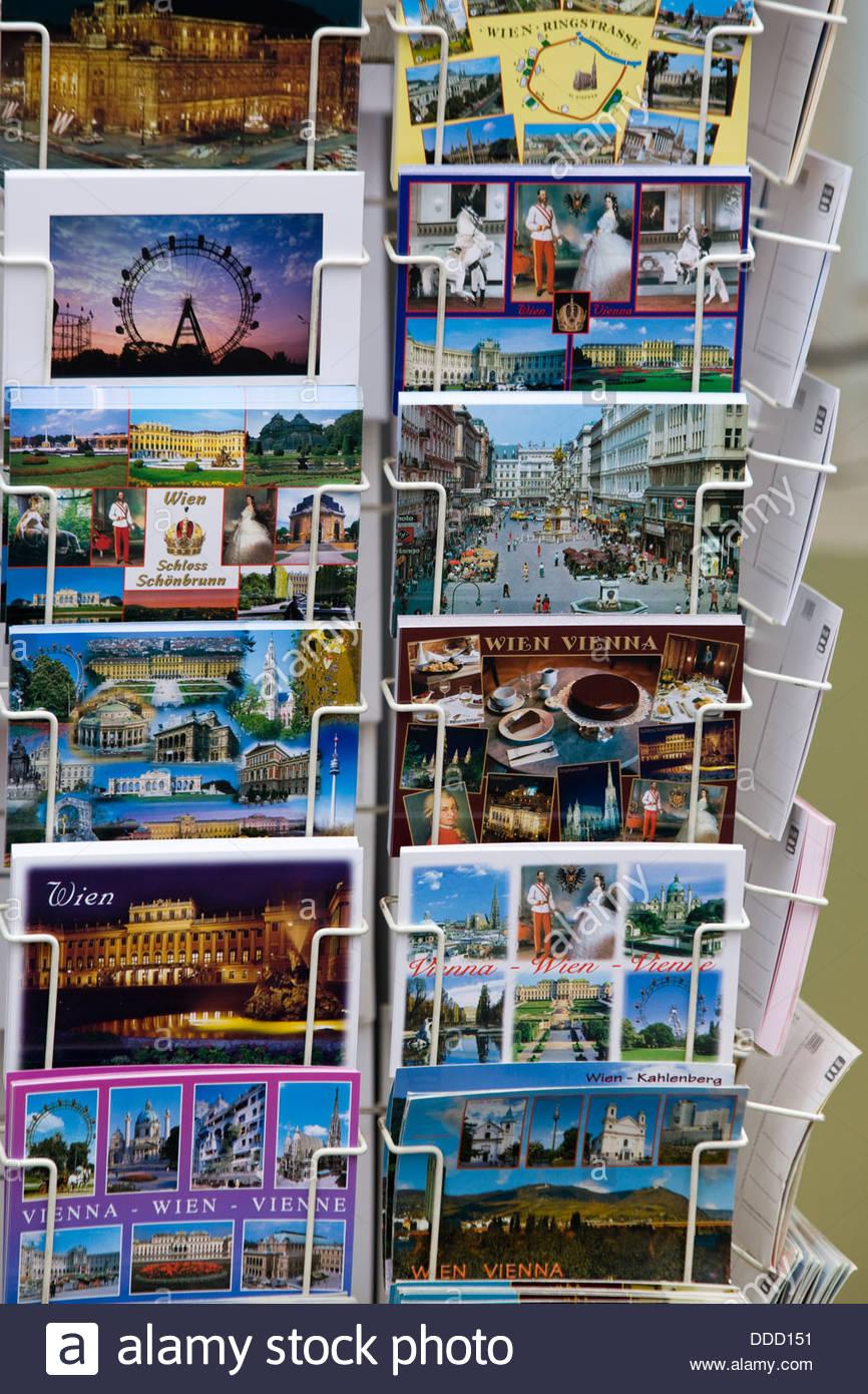 Carte postale à vendre à Vienne Autriche Photo Stock