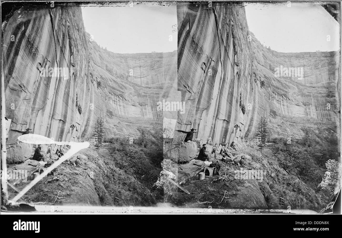 Canyon mur convexe De Chelle 700 pieds de hauteur, 1873 519761 Banque D'Images