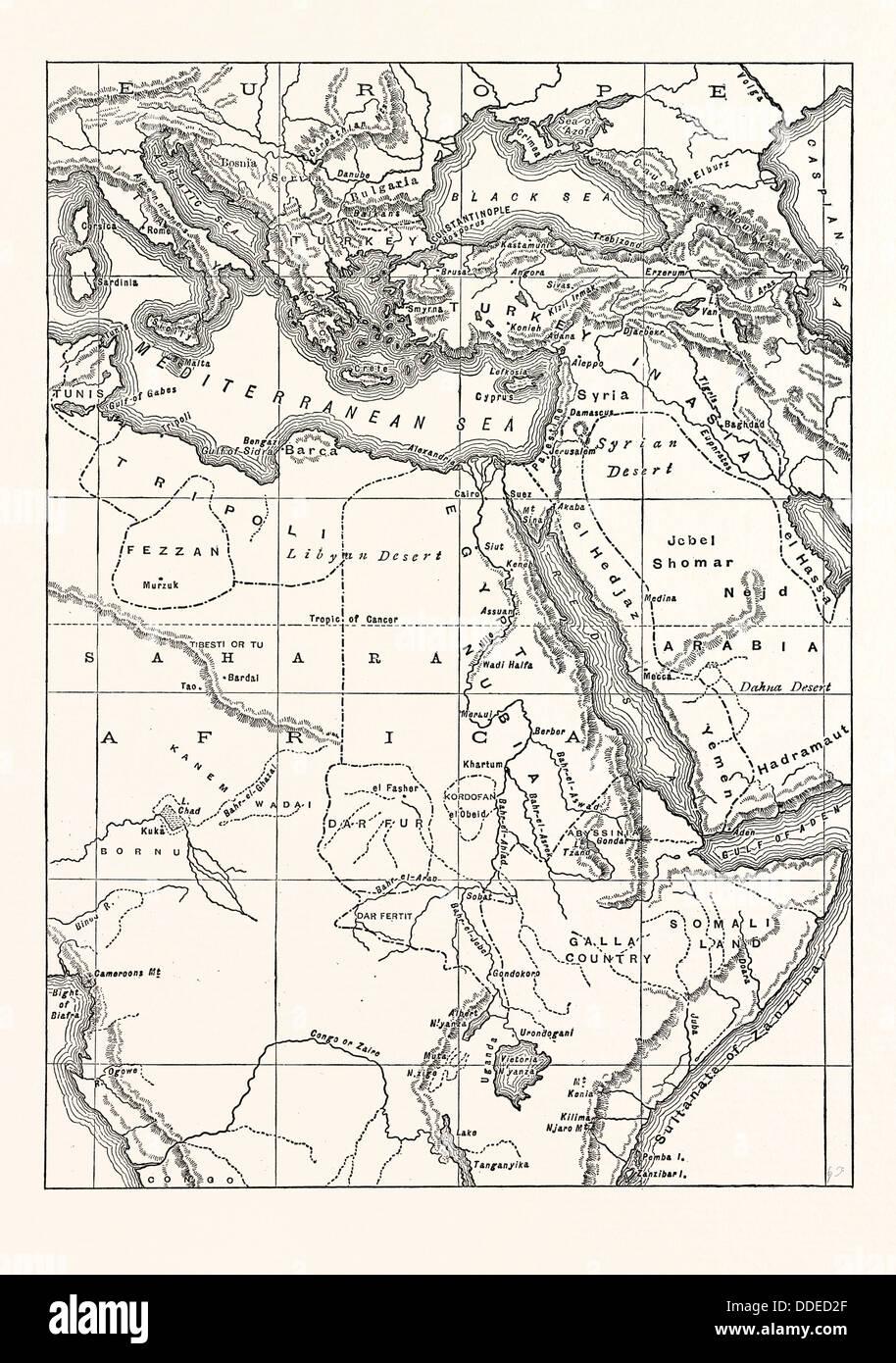 Carte Europe Du Sud Est.Carte De L Europe Du Sud Est En Asie De L Ouest Et Du Nord Et L