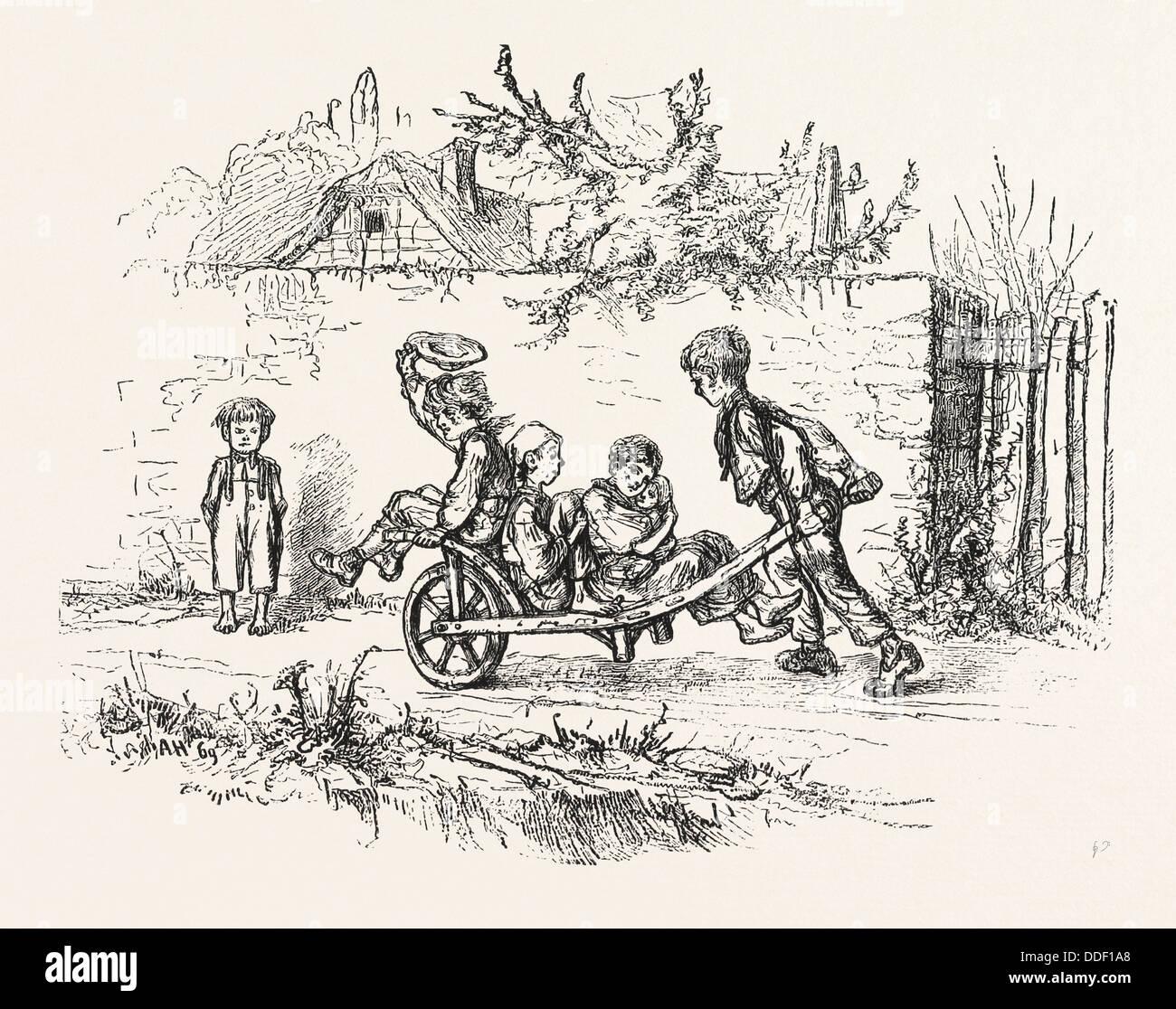 Carnet de croquis de mahin out pour une diffusion gravure 1876 photo stock