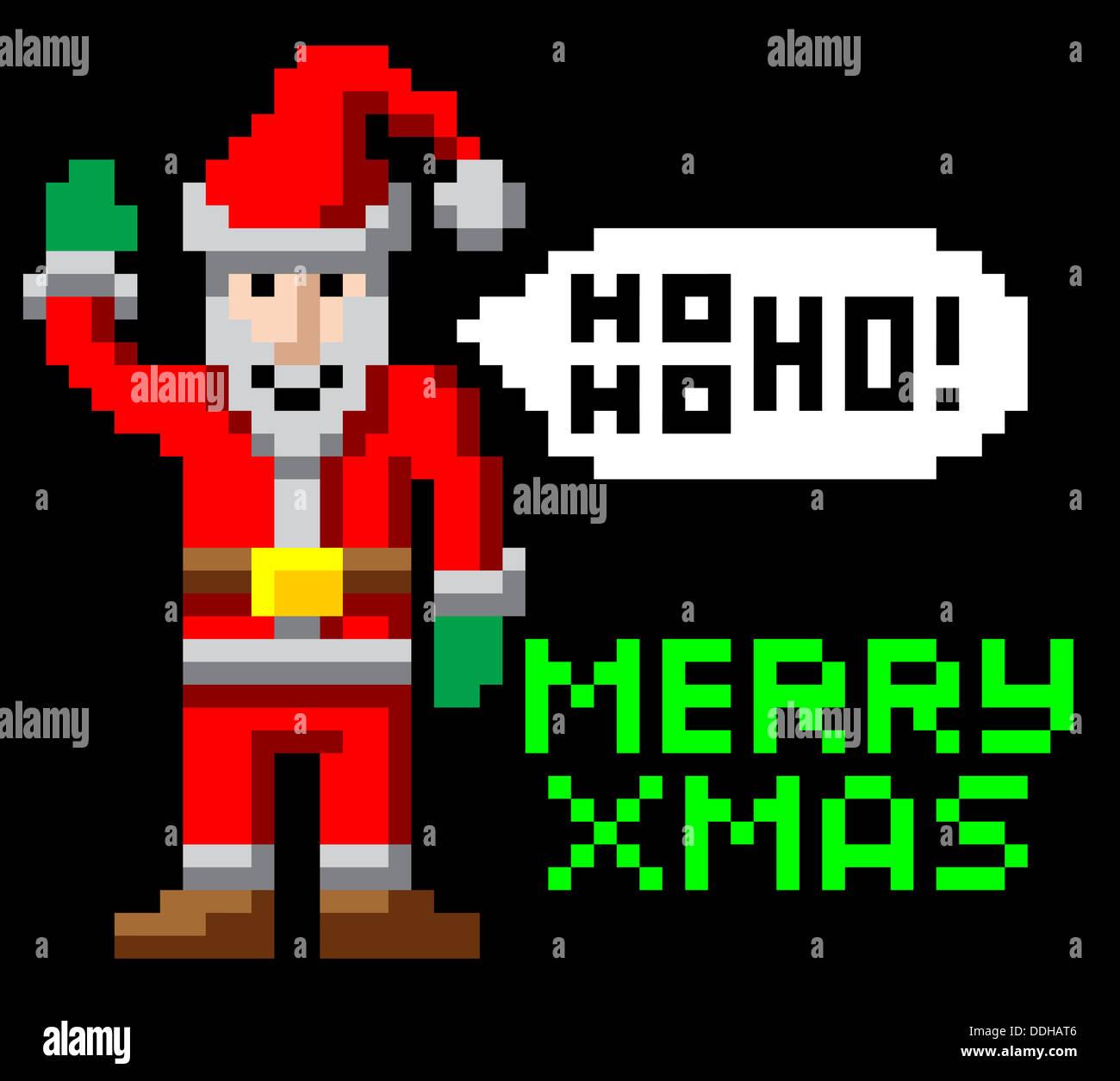Larcade Rétro 8 Bit Style Jeu Vidéo Pixel Art Noël Agitant