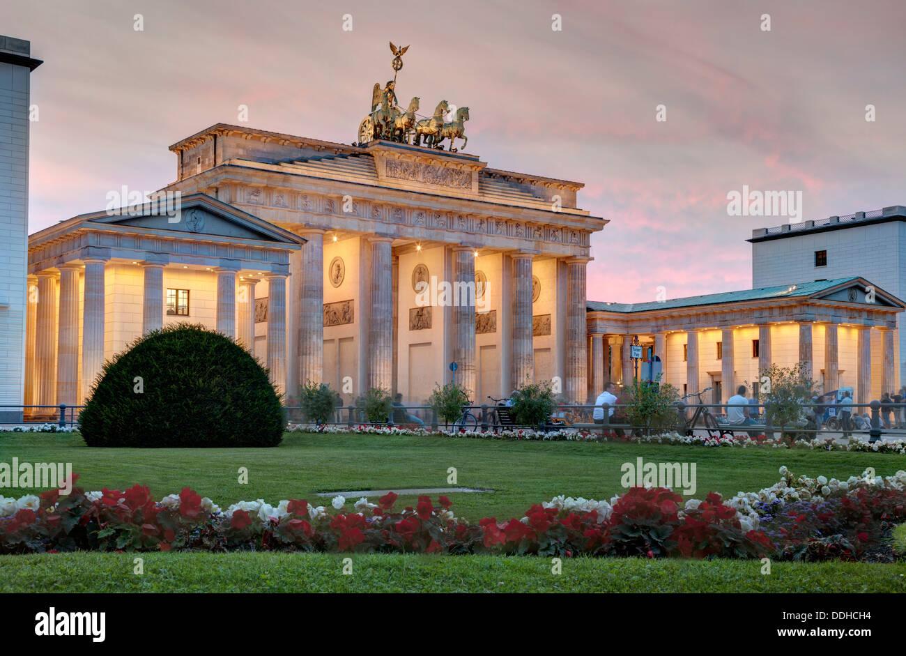 Porte de Brandebourg, Berlin, Allemagne Photo Stock