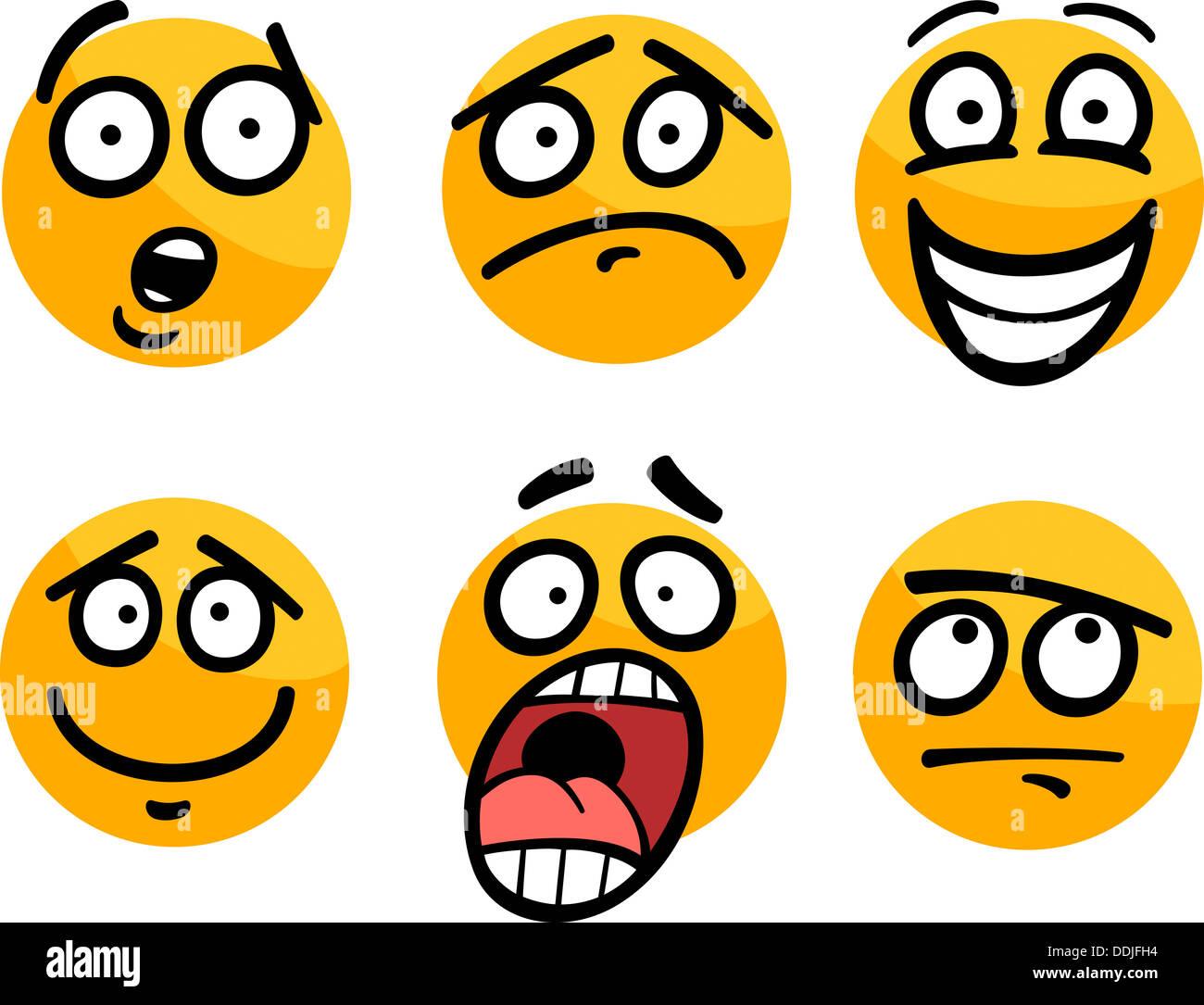 Emoticone Drole cartoon illustration de l'émoticône drôle ou des émotions et des