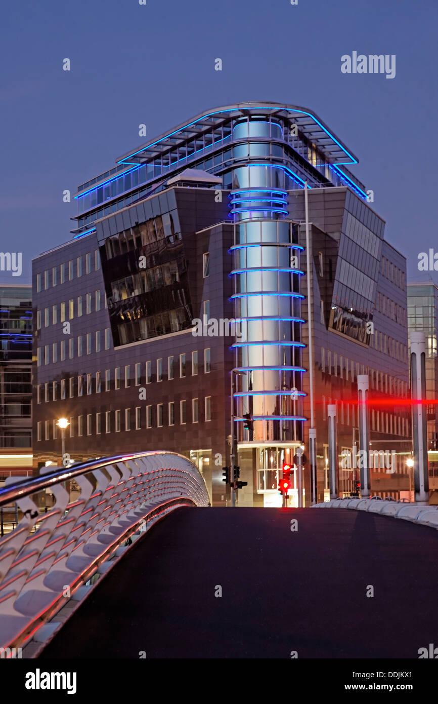 L'architecture moderne, pont Calatrava, Berlin , Allemagne Banque D'Images