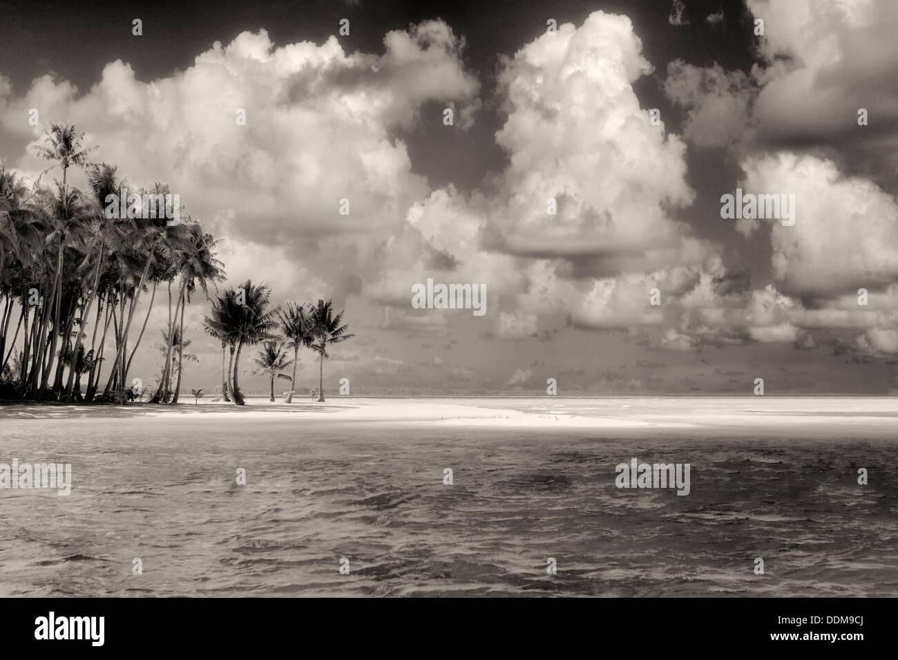 Petite île de Bora Bora. Polynésie Française Photo Stock