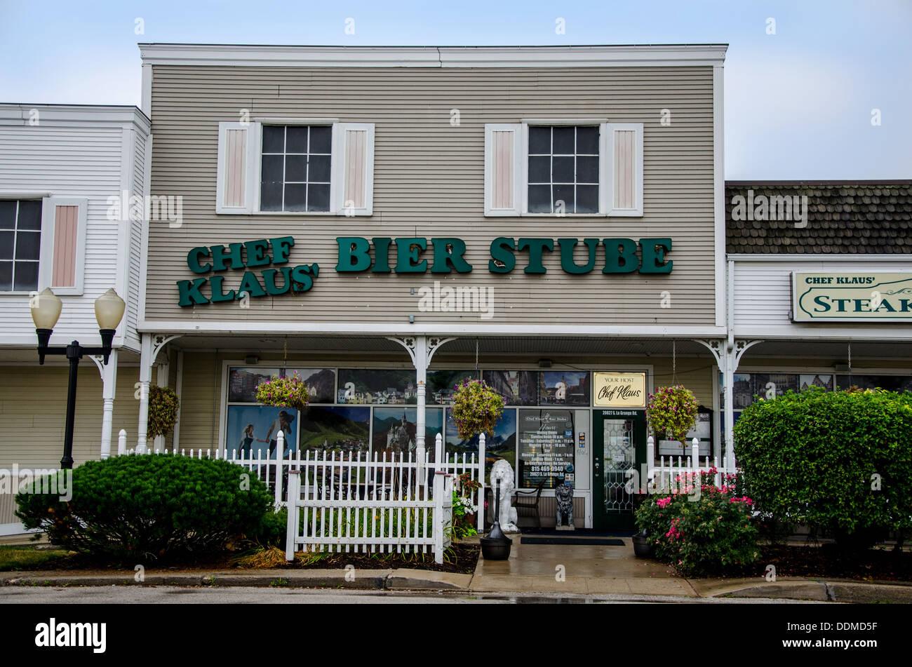 Chef Klaus Bier Stube à Frankfort, Kentucky le long de la Lincoln Highway qui sert une authentique cuisine allemande. Photo Stock