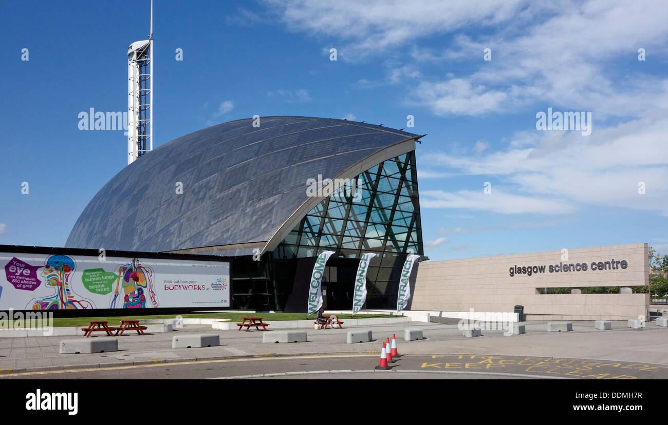 Entrée au Centre des sciences de Glasgow à Prince's Dock sur la rivière Clyde à Glasgow en Écosse Banque D'Images