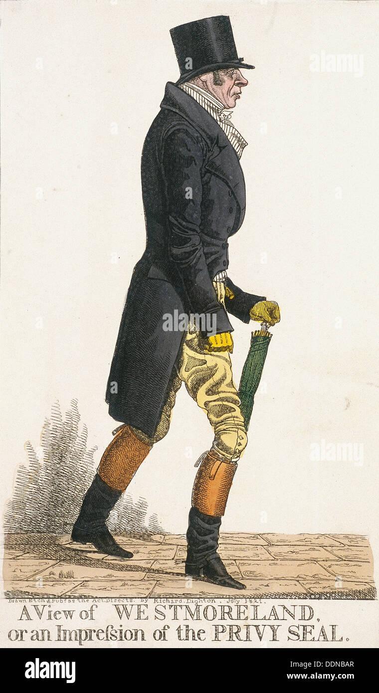 'Une vue de Westmoreland, ou l'impression du Sceau privé', 1821. Artiste: Richard Dighton Banque D'Images