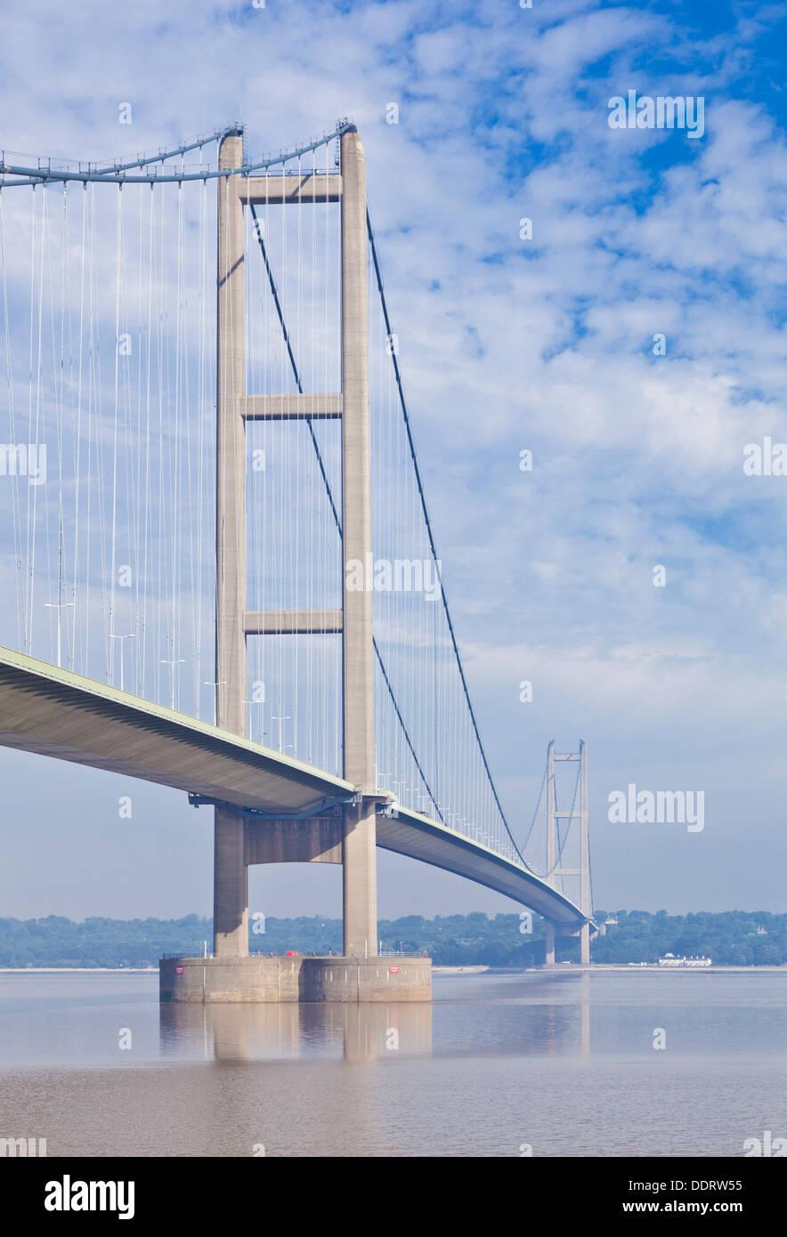 Le Humber Bridge sur la rivière Humber Humberside East England UK GB EU Europe Banque D'Images